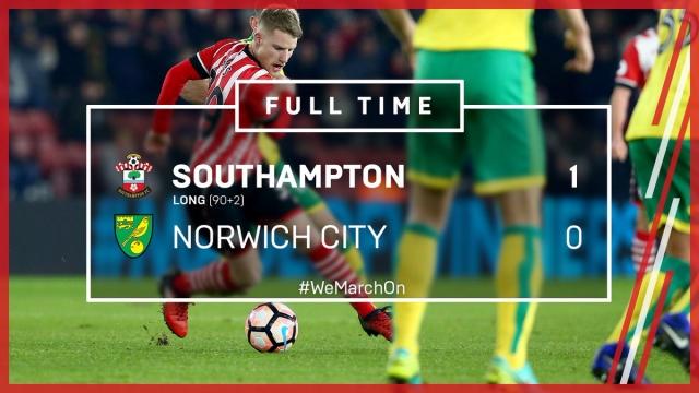 Southampton 1-0 Norwich (Đá lại vòng 3 FA Cúp 2016/17)