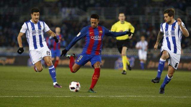 Real Sociedad 0-1 Barca(Tứ kết Cúp nhà Vua Tây Ban Nha 2016/17)
