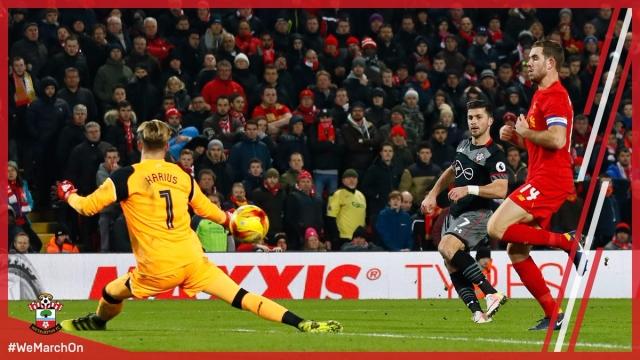 Liverpool 0-1 Southampton (Lượt về bán kết Cúp liên đoàn Anh 2016/17)