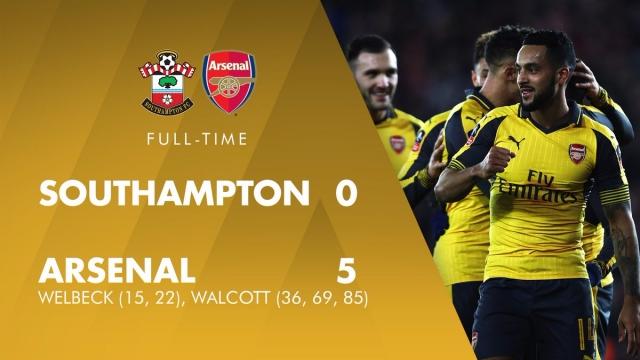 Southampton 0-5 Arsenal (Vòng 4 Cúp FA 2016/17)