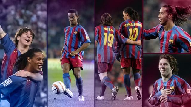Những pha kiến tạo đẳng cấp của Ronaldinho cho Messi trong màu áo Barcelona