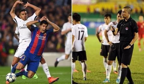 Quả 11m thứ 2 của Barca giống trận TP.HCM - Long An