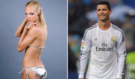 """Ronaldo bị nghi """"thả thính"""" VĐV nóng bỏng người Nga"""