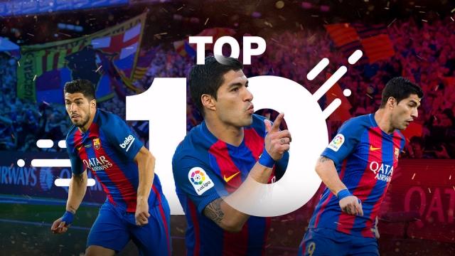 10 bàn thắng đẹp nhất của Luis Suarez ghi cho Barca mùa 2016/17
