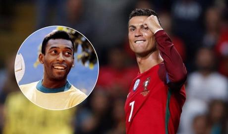 Lập hat-trick cho Bồ, Ronaldo vượt mặt Pele