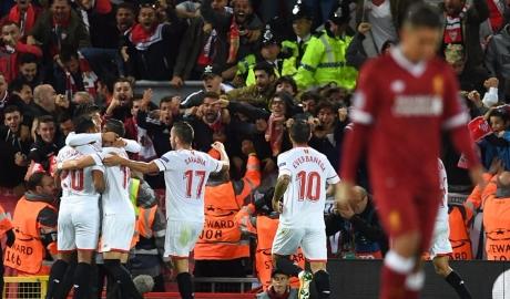 "Liverpool 2-2 Sevilla: Liverpool lại ""rơi"" chiến thắng"