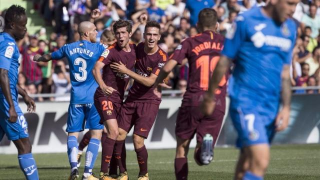 Getafe 1-2 Barcelona (Vòng 4 La Liga 2017/18)