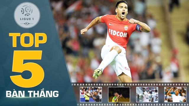 Falcao, Balotelli tỏa sáng trong top 5 bàn thắng đẹp nhất vòng 6 Ligue 1