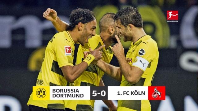 Dortmund 5-0 Cologne (Vòng 4 Bundesliga 2017/18)