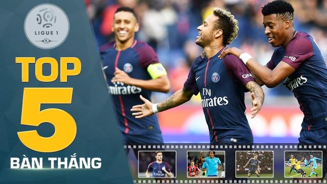 Neymar và dàn sao PSG thống trị top 5 bàn thắng đẹp nhất vòng 8 Ligue 1