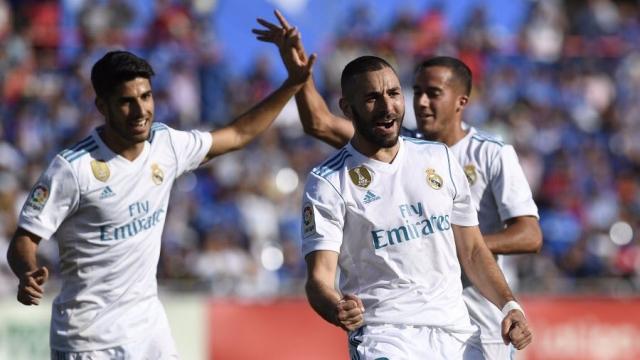 Benzema mở tỷ số cho Real sau sai lầm tệ hại của hàng phòng ngự Getafe