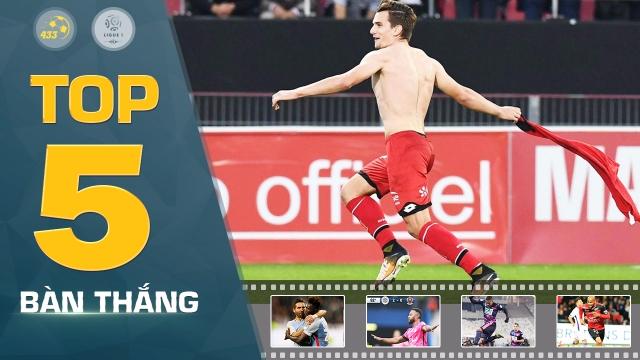 Neymar, Mappe vắng mặt trong top 5 bàn thắng đẹp nhất vòng 9 Ligue 1