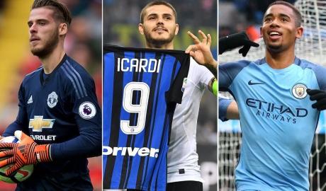 De Gea, Icardi thống trị ĐHTB bóng đá châu Âu tuần qua