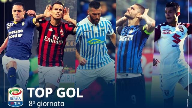 Suso, Icardi góp mặt trong top 5 bàn thắng đẹp nhất vòng 8 Serie A