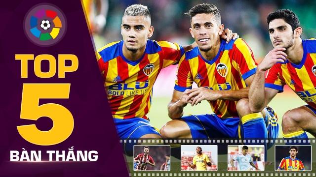 Sao trẻ M.U thống trị top 5 bàn thắng đẹp nhất vòng 8 La Liga 2017/18