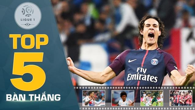 Depay, Cavani dẫn đầu top 5 bàn thắng đẹp nhất vòng 10 Ligue 1