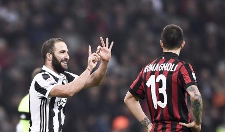 Higuain lập cú đúp giúp Juve nhấn chìm AC Milan ngay tại San Siro