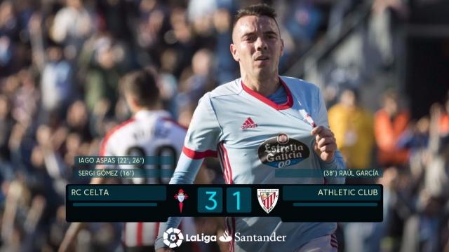 Celta Vigo 3-1 Athletic Bilbao (Vòng 11 La Liga 2017/18)