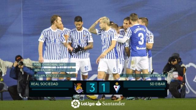 Real Sociedad 3-1 Eibar (Vòng 11 La Liga 2017/18)