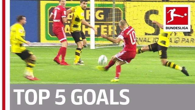 Robben, Lewandowski dẫn đầu top 5 bàn thắng đẹp nhất vòng 11 Bundesliga 2017/18