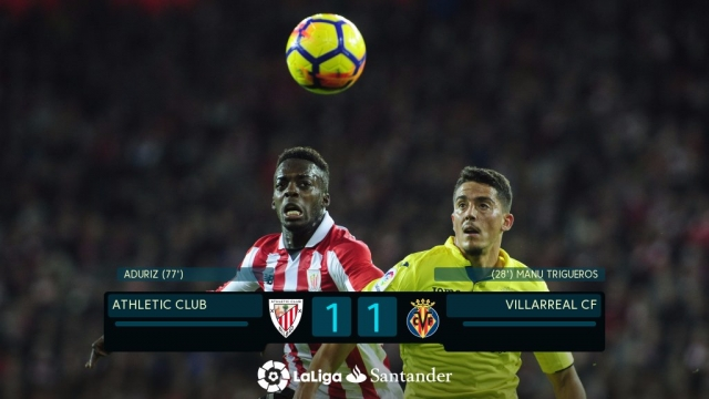 Athletic Bilbao 1-1 Villarreal (Vòng 12 La Liga 2017/18)