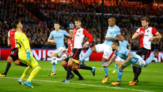 Nhận định bóng đá Man City vs Feyenoord, 2h45 ngày 22/11 (Bảng F Champions League 2017/18)