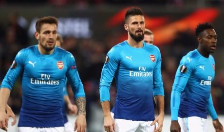 Bại trận, Arsenal vẫn đứng đầu bảng Europa League