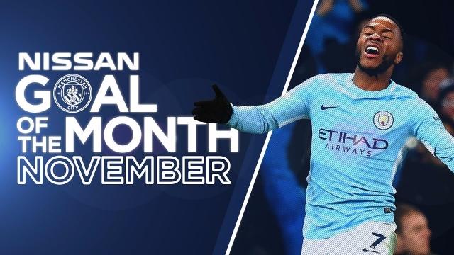 Top 5 bàn thắng đẹp nhất tháng 11/2017 của Man City