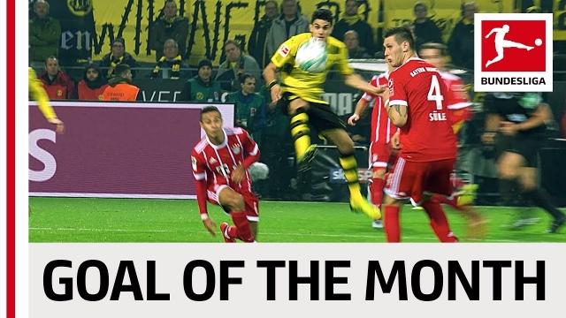 Bundesliga 2017/18: 5 bàn thắng đẹp nhất tháng 11