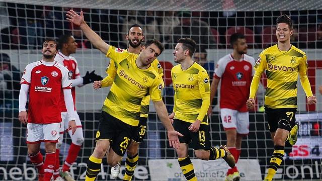 Mainz 05 0-2 Dortmund (Vòng 16 Bundesliga 2017/18)