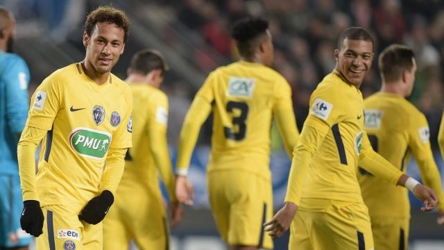 Rennes 1 - 6 PSG (Vòng 1 Cúp QG Pháp 2017/18)