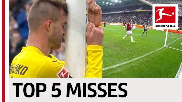 5 pha bỏ lỡ đáng tiếc nhất lượt đi Bundesliga 2017/18