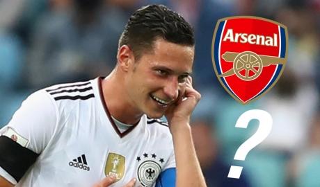Thêm lí do để tin Julian Draxler sẽ đến Arsenal