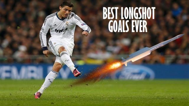 Ronaldo và những pha sút xa thành bàn xem mãi không chán