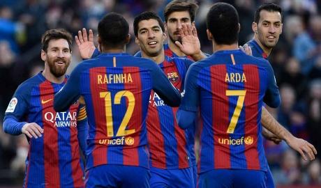 Barca là đội duy nhất chưa thua trong năm giải đấu lớn