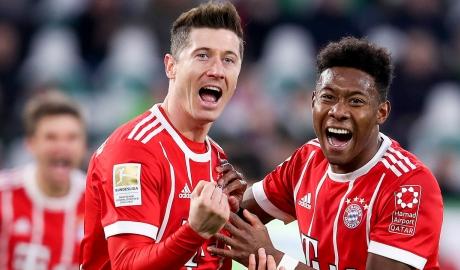 Lewandowski lập công phút cuối giúp Bayern thắng nhọc Wolfsburg