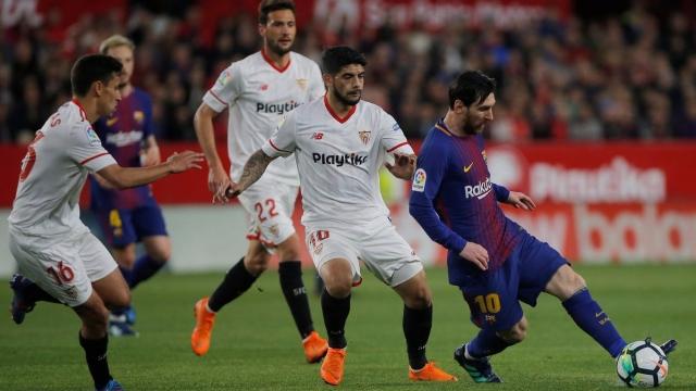 Sevilla 2-2 Barcelona (Vòng 30 La Liga)