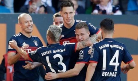 Đại thắng Augsburg, Bayern vô địch Bundesliga lần thứ 6 liên tiếp