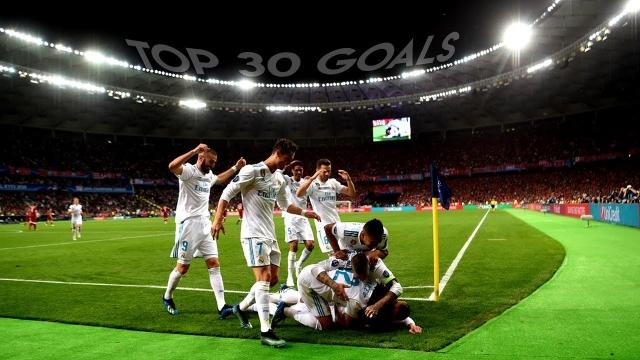 Top 30 bàn thắng đẹp nhất mùa giải 2017/18 của Real Madrid