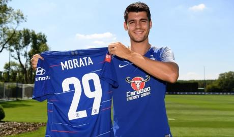 Morata bất ngờ đổi số áo mới ở Chelsea