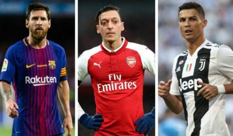 "Vua chuyền bóng thập kỉ: Ozil tuổi 30 ""chấp"" cả Ronaldo lẫn Messi"