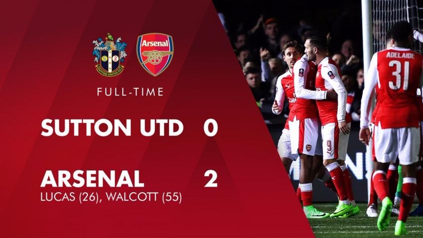 Sutton 0-2 Arsenal (Vòng 5 FA Cup 2016/17)