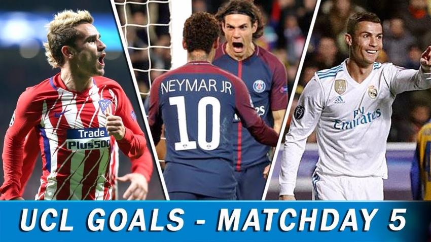 Tổng hợp tất cả các bàn thắng ở lượt trận thứ 5, vòng bảng Champions League