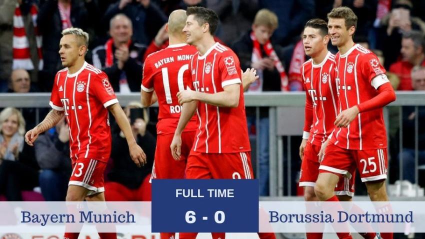 Bayern Munich 6-0 Borussia Dortmund (Vòng 28 Bundesliga)