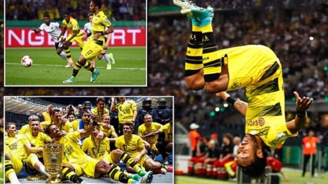 Aubameyang giúp Dortmund lên đỉnh sau 3 năm trắng tay