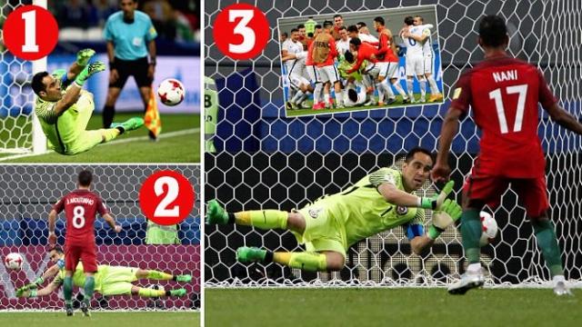 Thảm họa đá pen, Bồ Đào Nha bị Chile đá văng khỏi Confed Cup