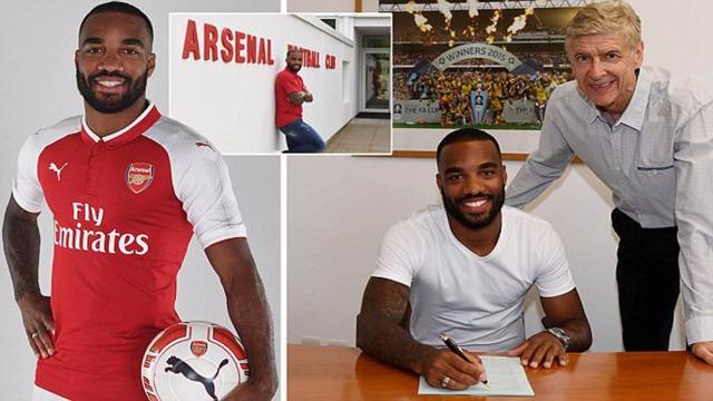 CHÍNH THỨC: Arsenal sở hữu Lacazette với mức giá kỷ lục