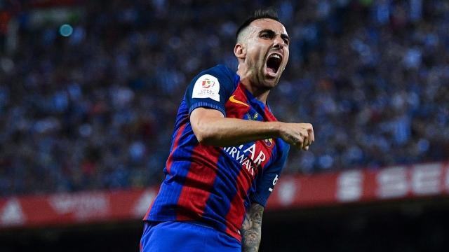 Alcacer sắm vai người hùng giúp Barca giành trọn 3 điểm