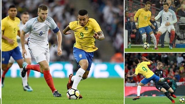 """Neymar bị """"phong ấn"""", Brazil và Anh hòa không bàn thắng"""