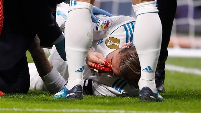 Ramos tái dính chấn thương vỡ mũi